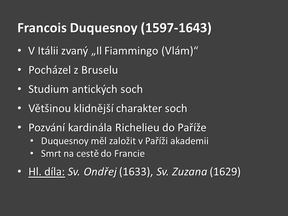 Francois Duquesnoy (1597-1643)