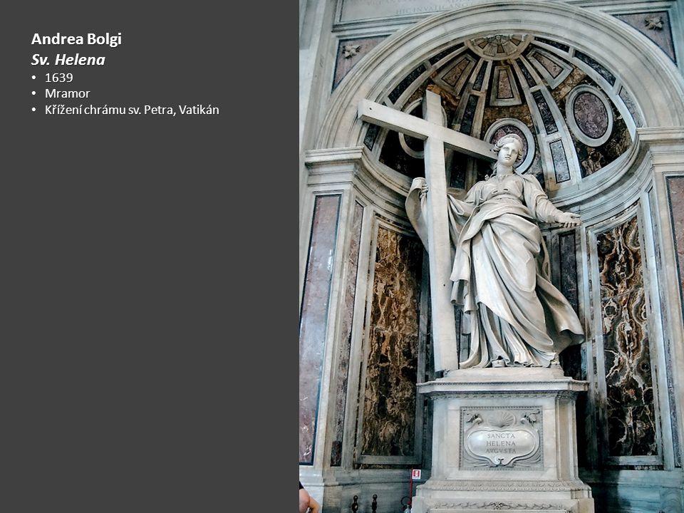 Andrea Bolgi Sv. Helena 1639 Mramor Křížení chrámu sv. Petra, Vatikán