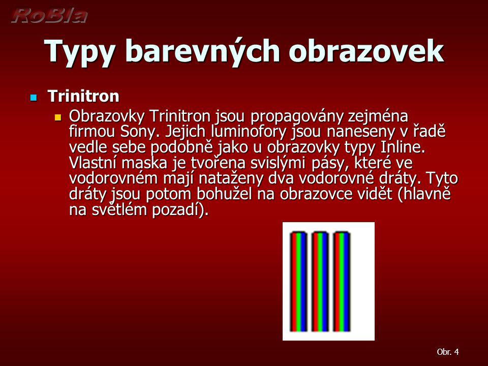 Typy barevných obrazovek
