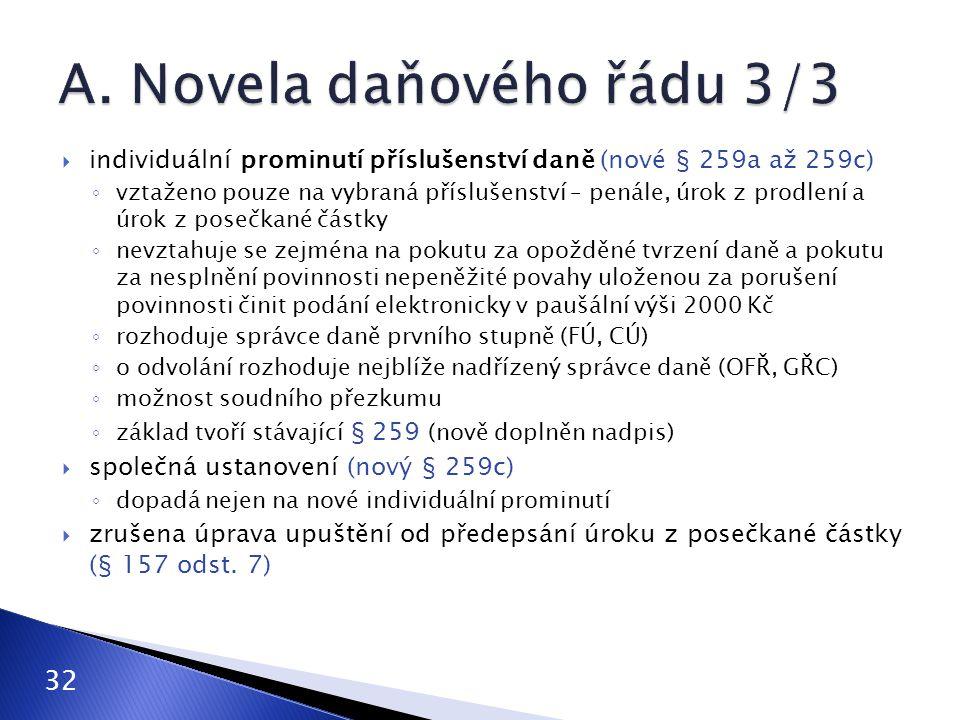 A. Novela daňového řádu 3/3
