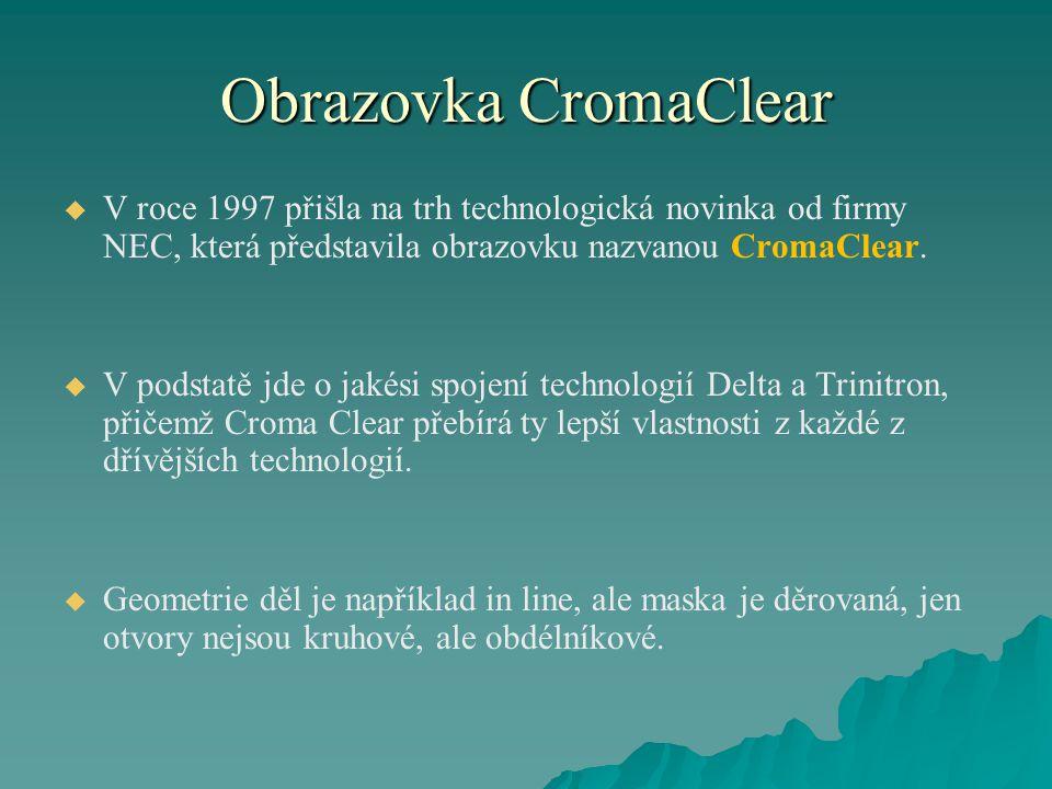 Obrazovka CromaClear V roce 1997 přišla na trh technologická novinka od firmy NEC, která představila obrazovku nazvanou CromaClear.