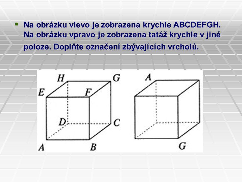 Na obrázku vlevo je zobrazena krychle ABCDEFGH