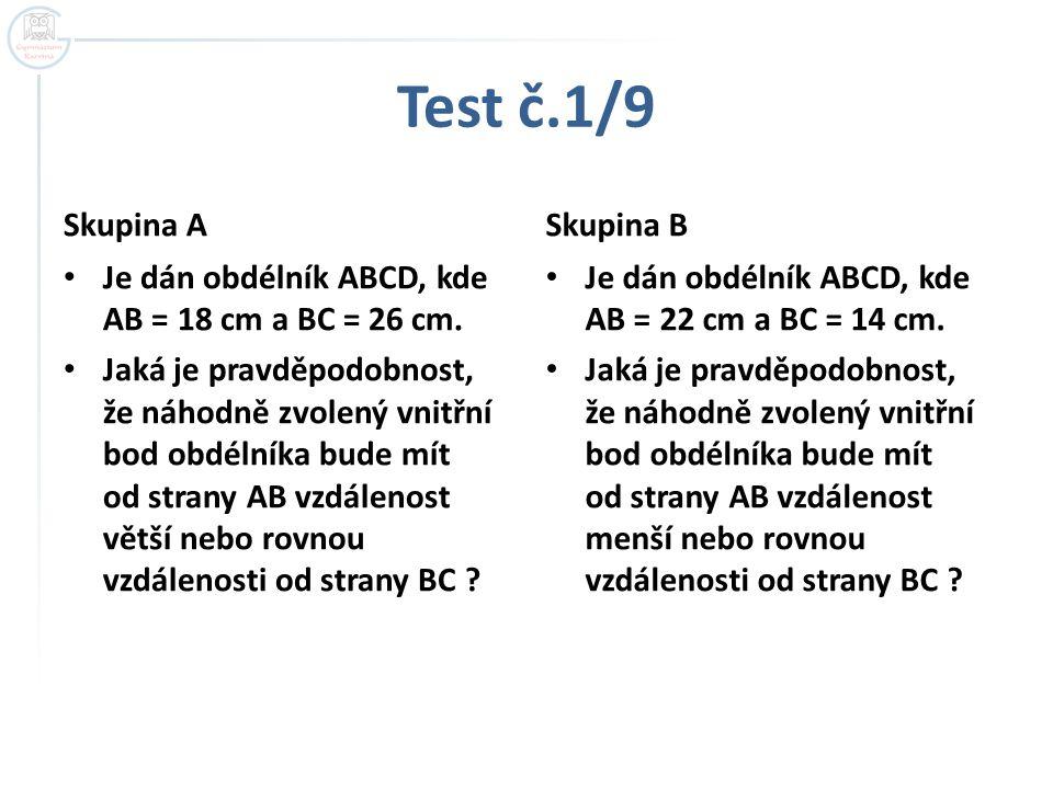 Test č.1/9 Skupina A Skupina B