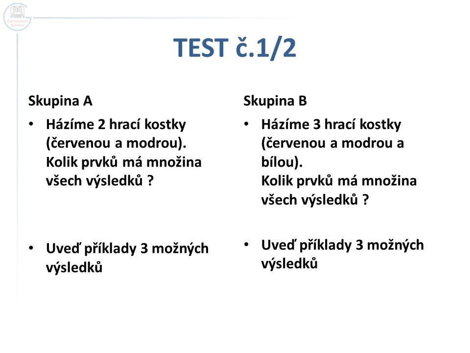 TEST č.1/2 Skupina A Skupina B
