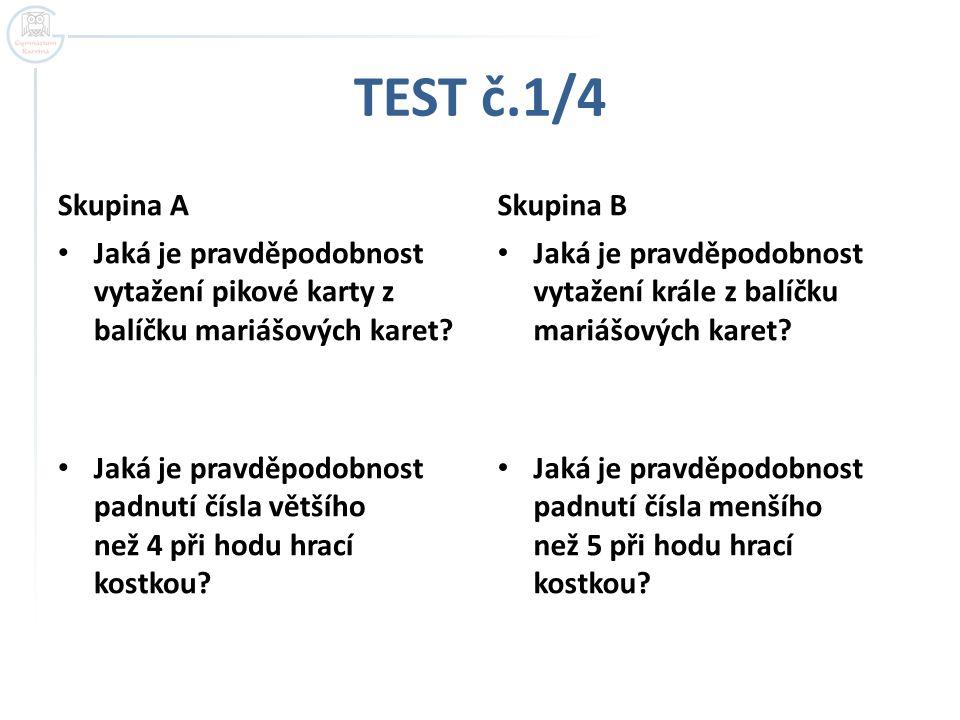 TEST č.1/4 Skupina A Skupina B