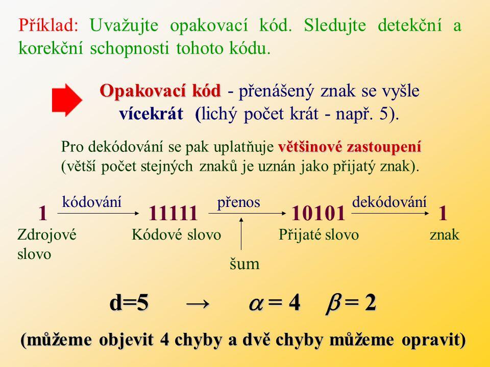 (můžeme objevit 4 chyby a dvě chyby můžeme opravit)