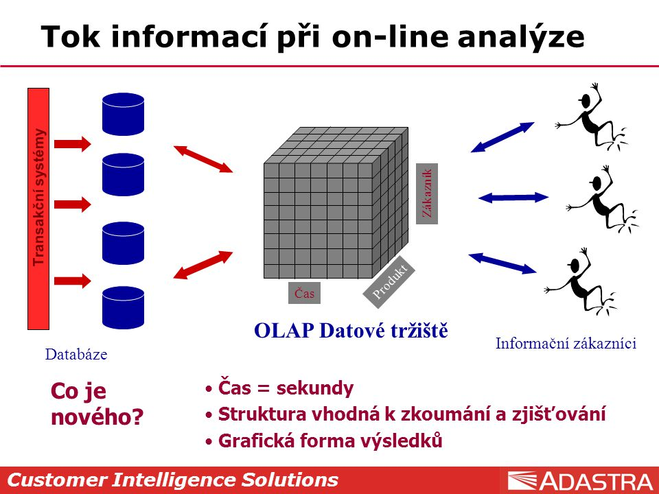 Tok informací při on-line analýze