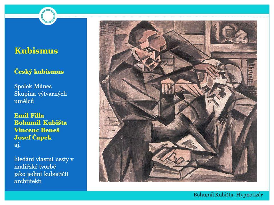 Kubismus Český kubismus Spolek Mánes Skupina výtvarných umělců