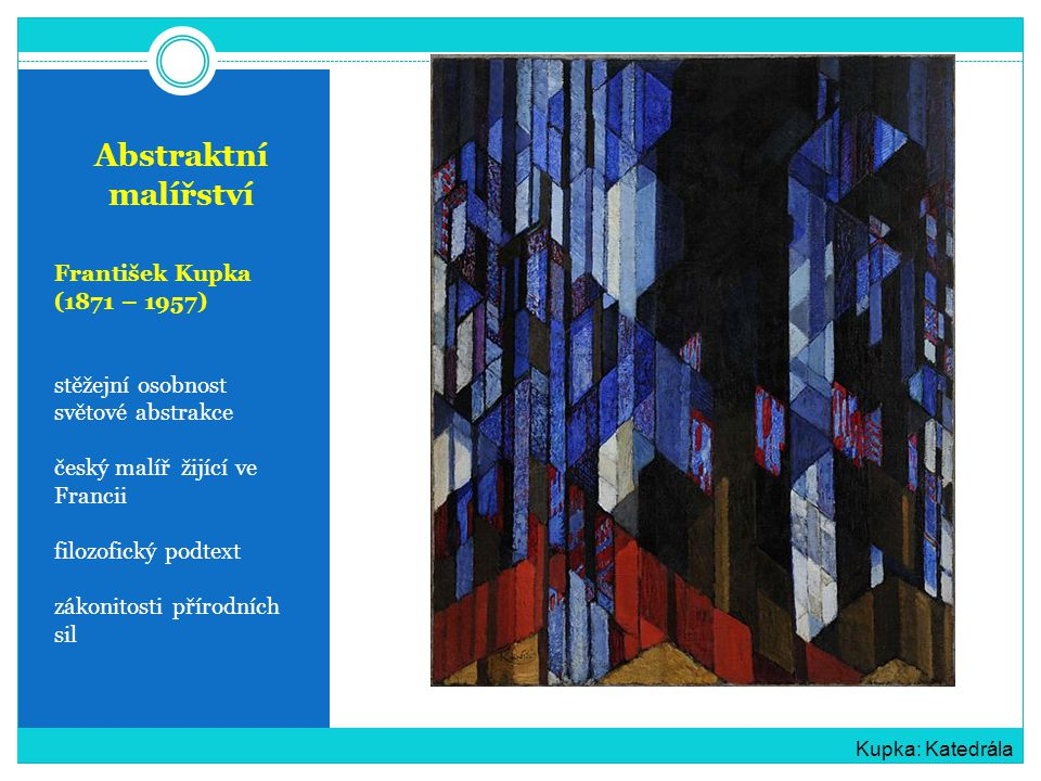 Abstraktní malířství František Kupka (1871 – 1957)