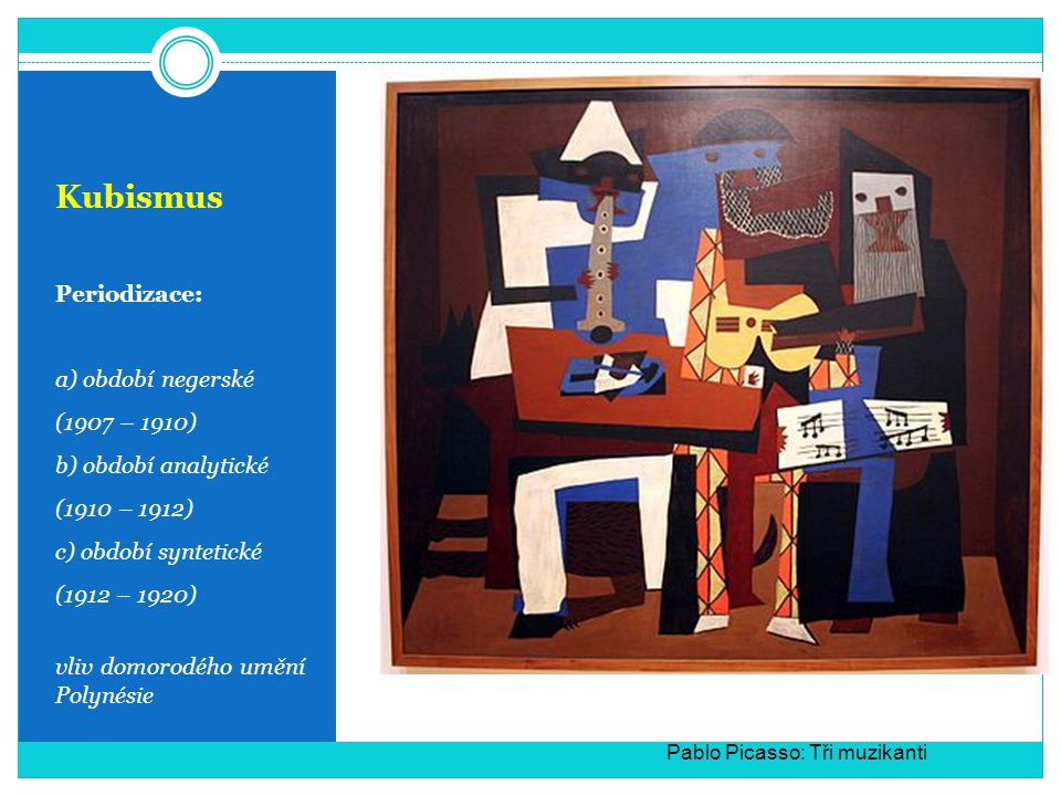 Kubismus Periodizace: a) období negerské (1907 – 1910)