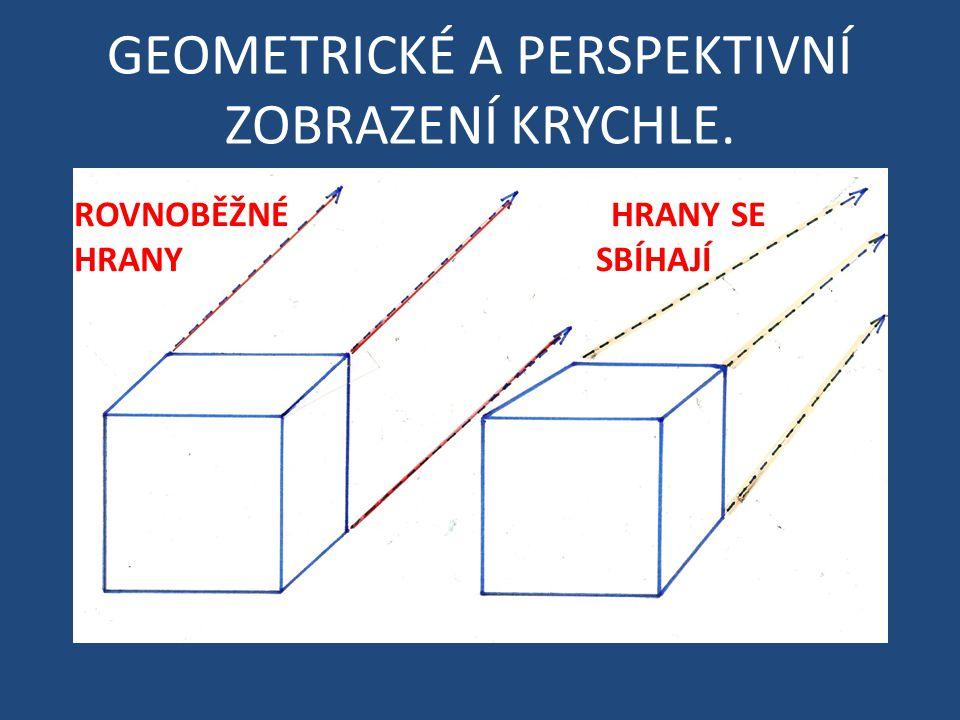GEOMETRICKÉ A PERSPEKTIVNÍ ZOBRAZENÍ KRYCHLE.