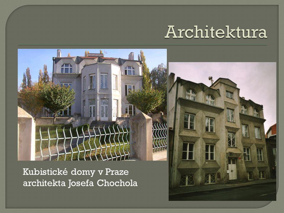 Architektura Kubistické domy v Praze architekta Josefa Chochola