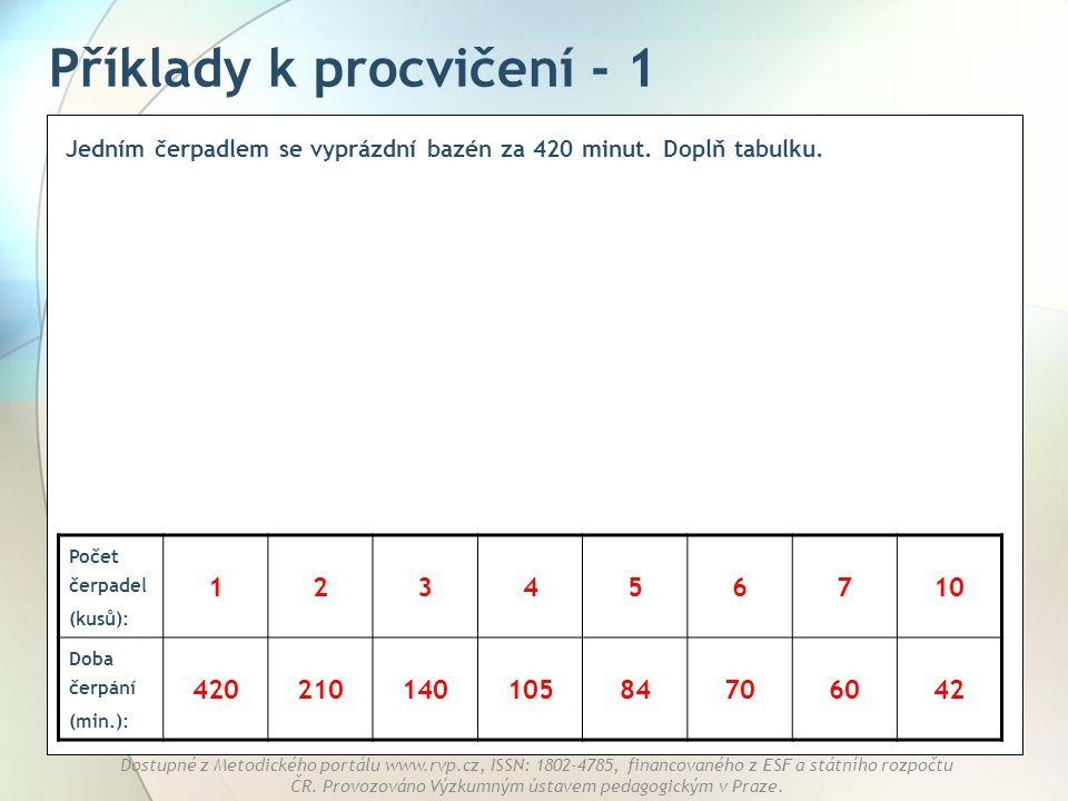 Příklady k procvičení - 1