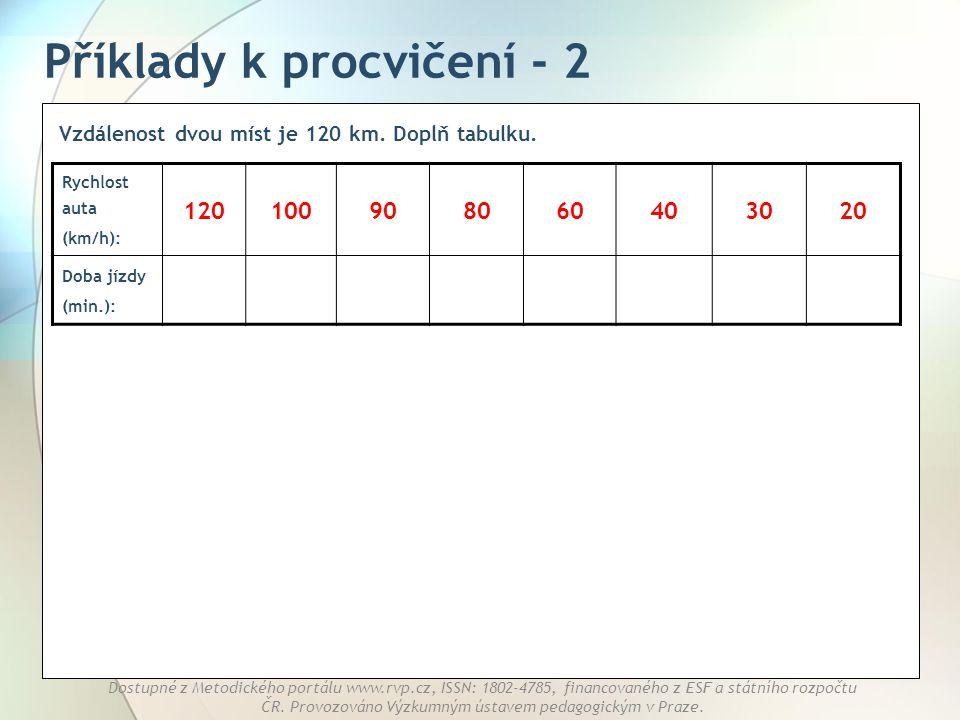 Příklady k procvičení - 2