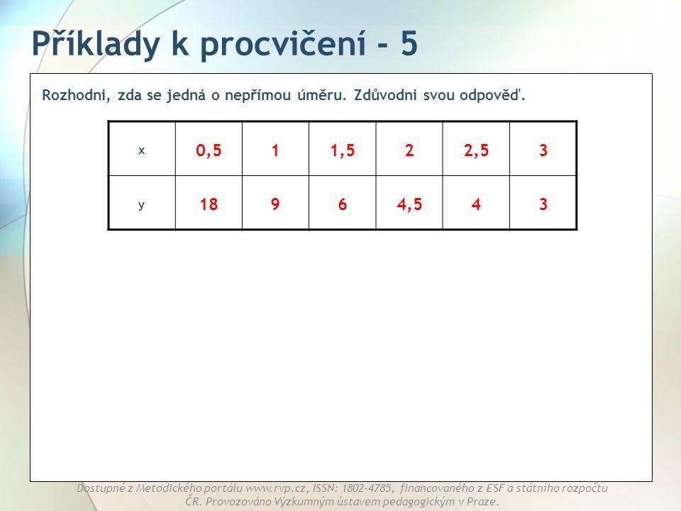 Příklady k procvičení - 5