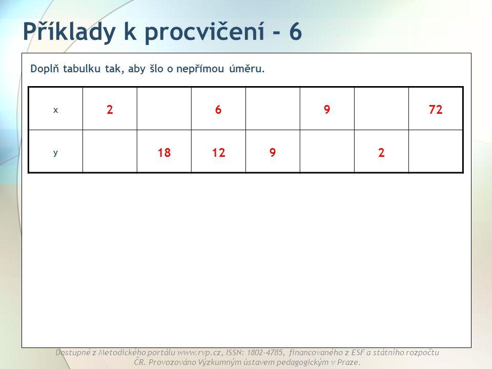 Příklady k procvičení - 6
