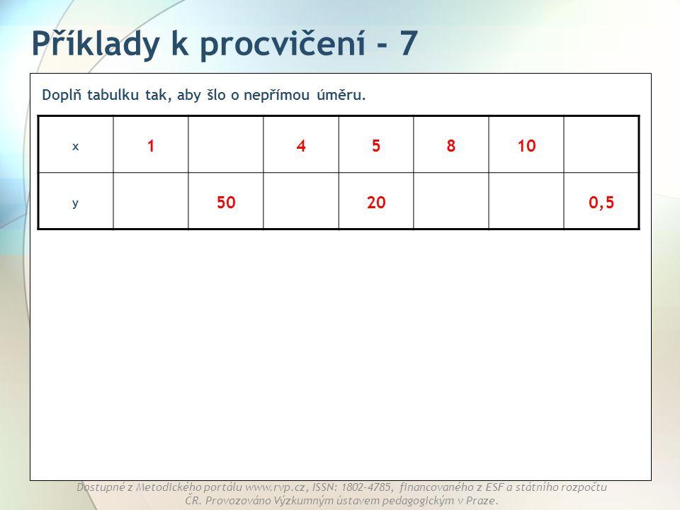 Příklady k procvičení - 7