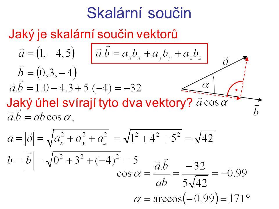 Jaký je skalární součin vektorů