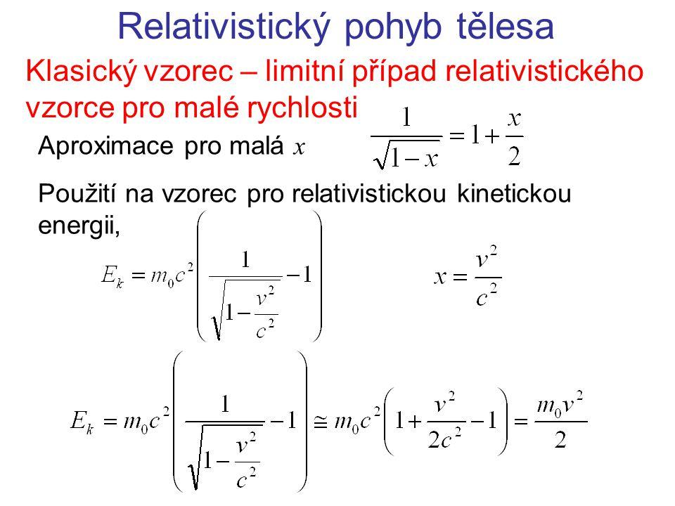 Relativistický pohyb tělesa