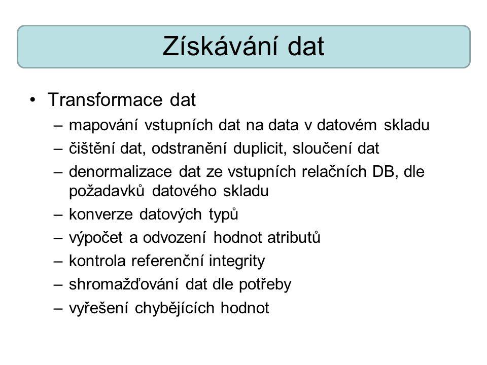 Získávání dat Transformace dat