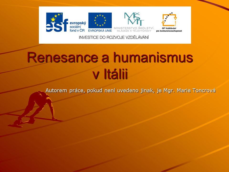 Renesance a humanismus v Itálii