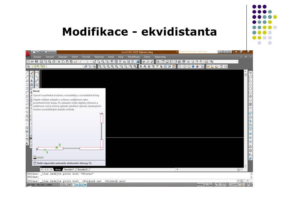 Modifikace - ekvidistanta