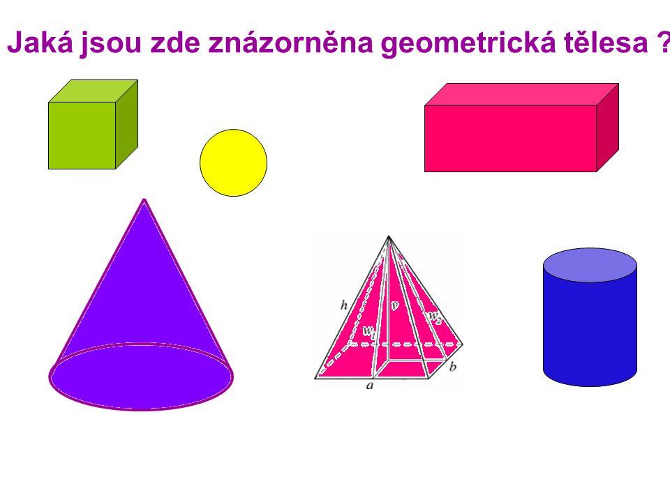 Jaká jsou zde znázorněna geometrická tělesa