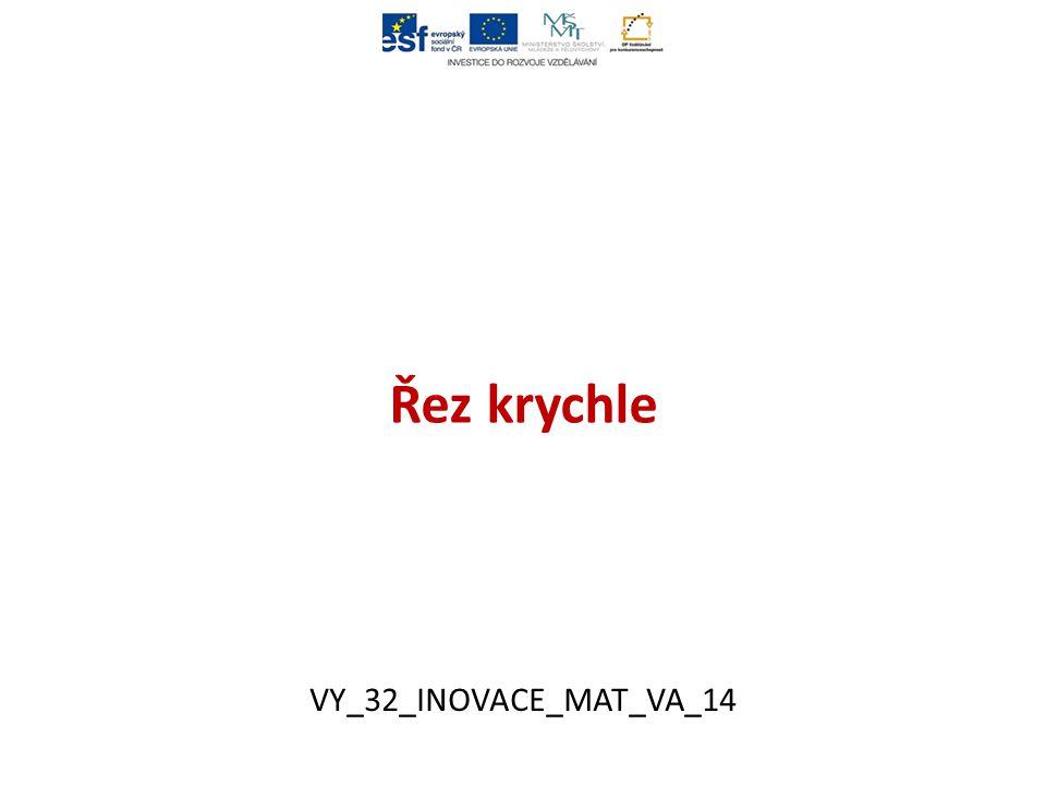 Řez krychle VY_32_INOVACE_MAT_VA_14