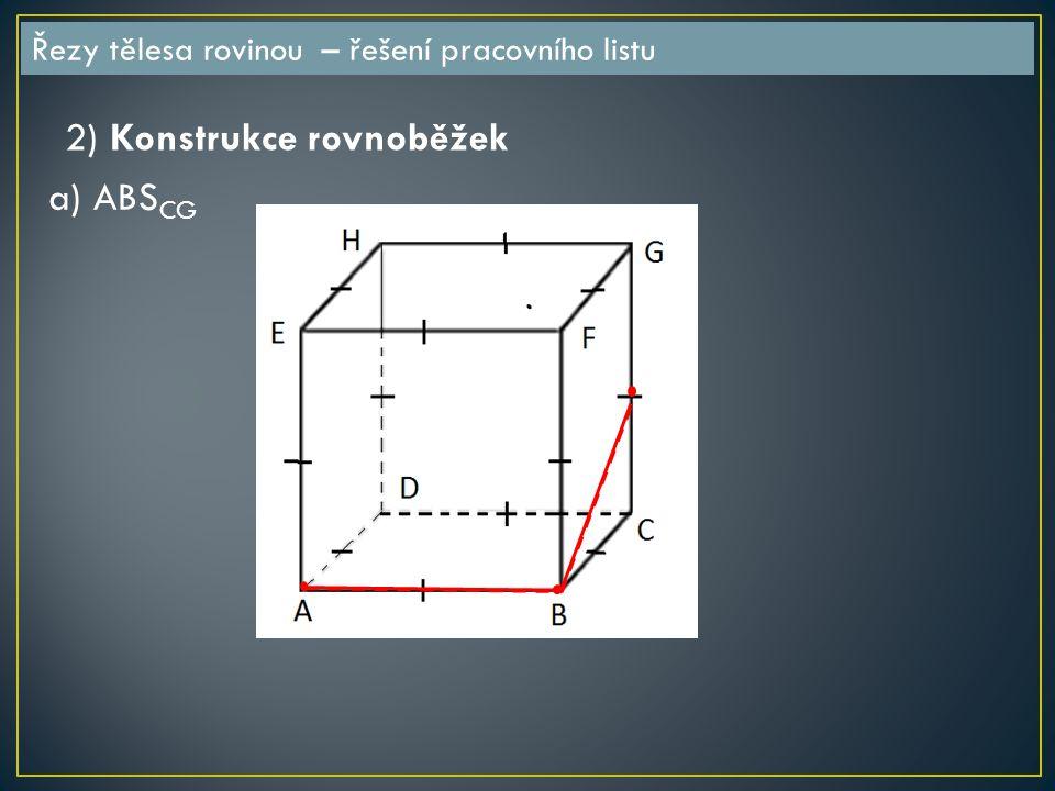 2) Konstrukce rovnoběžek a) ABSCG