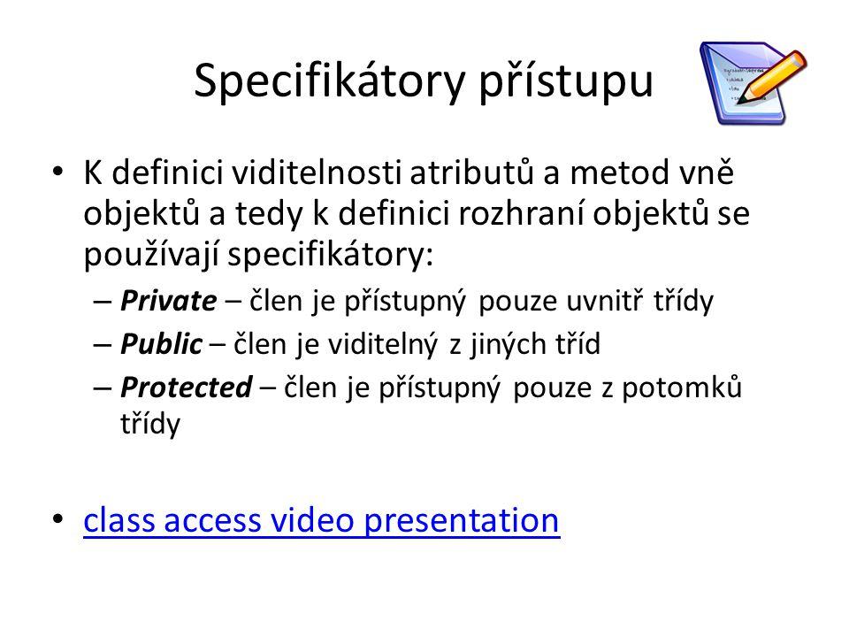 Specifikátory přístupu