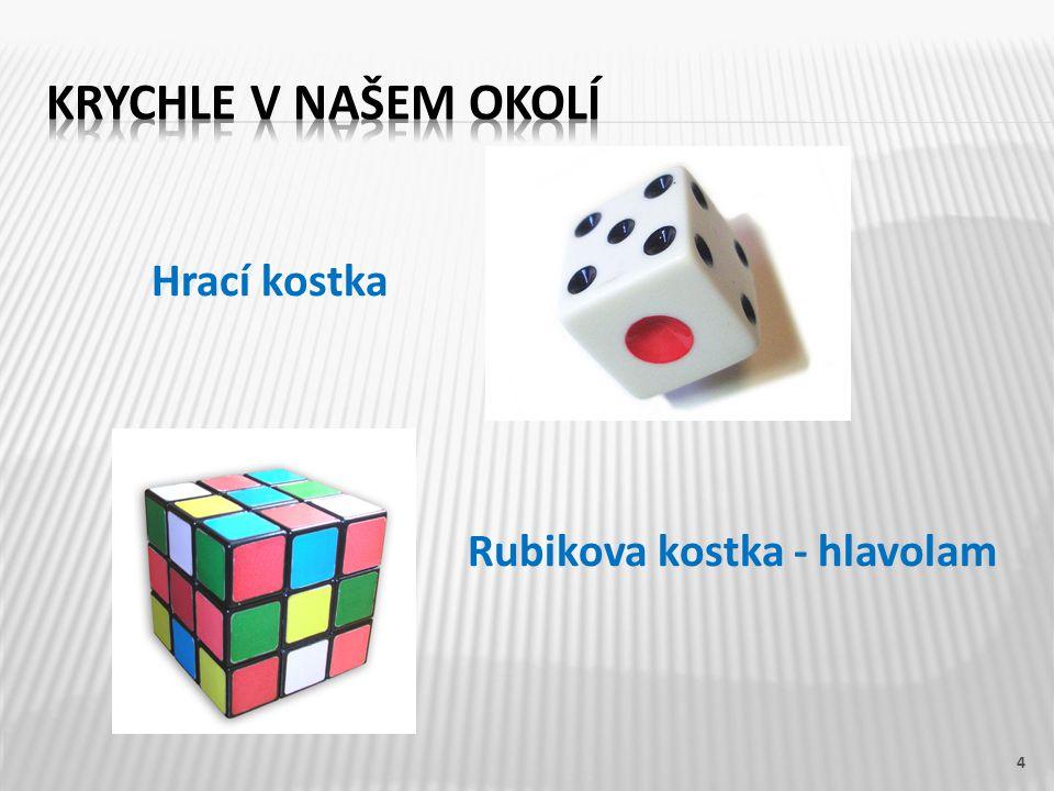 Krychle v našem okolí Hrací kostka Rubikova kostka - hlavolam