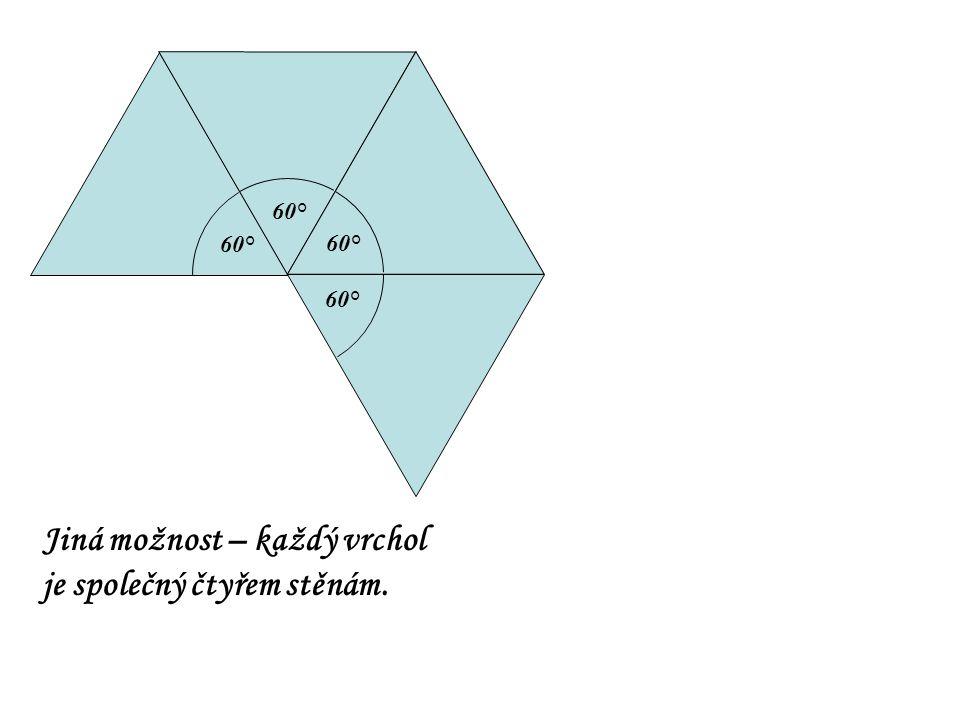 Jiná možnost – každý vrchol je společný čtyřem stěnám.