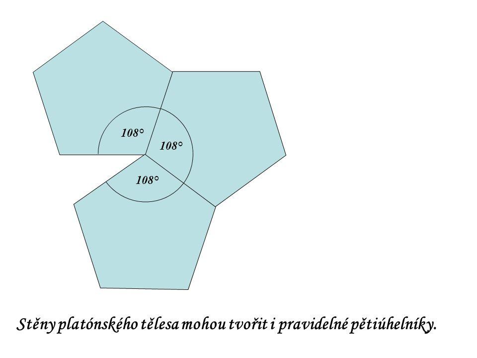 Stěny platónského tělesa mohou tvořit i pravidelné pětiúhelníky.