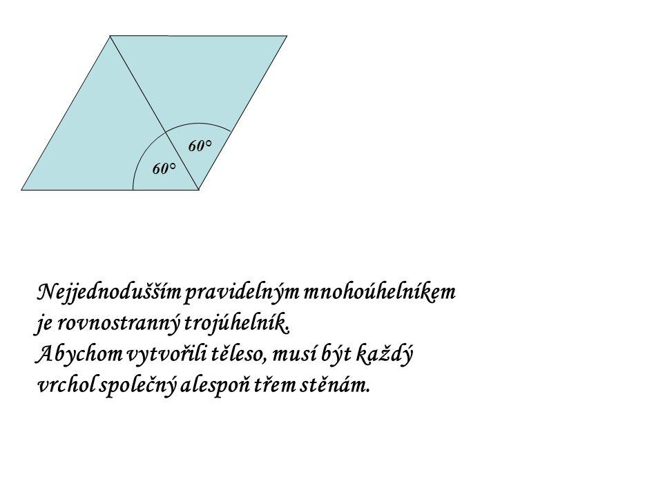 Nejjednodušším pravidelným mnohoúhelníkem je rovnostranný trojúhelník.