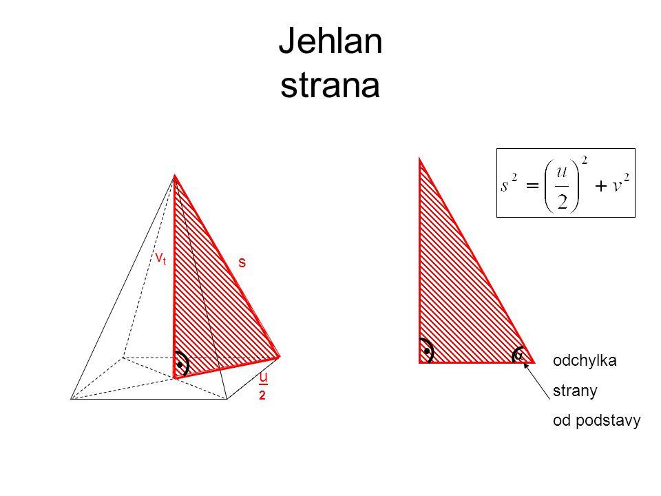 Jehlan strana vt s  odchylka strany od podstavy u 2