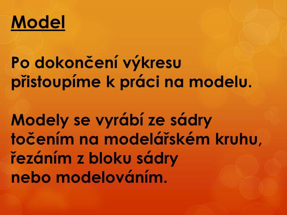 Model Po dokončení výkresu přistoupíme k práci na modelu.