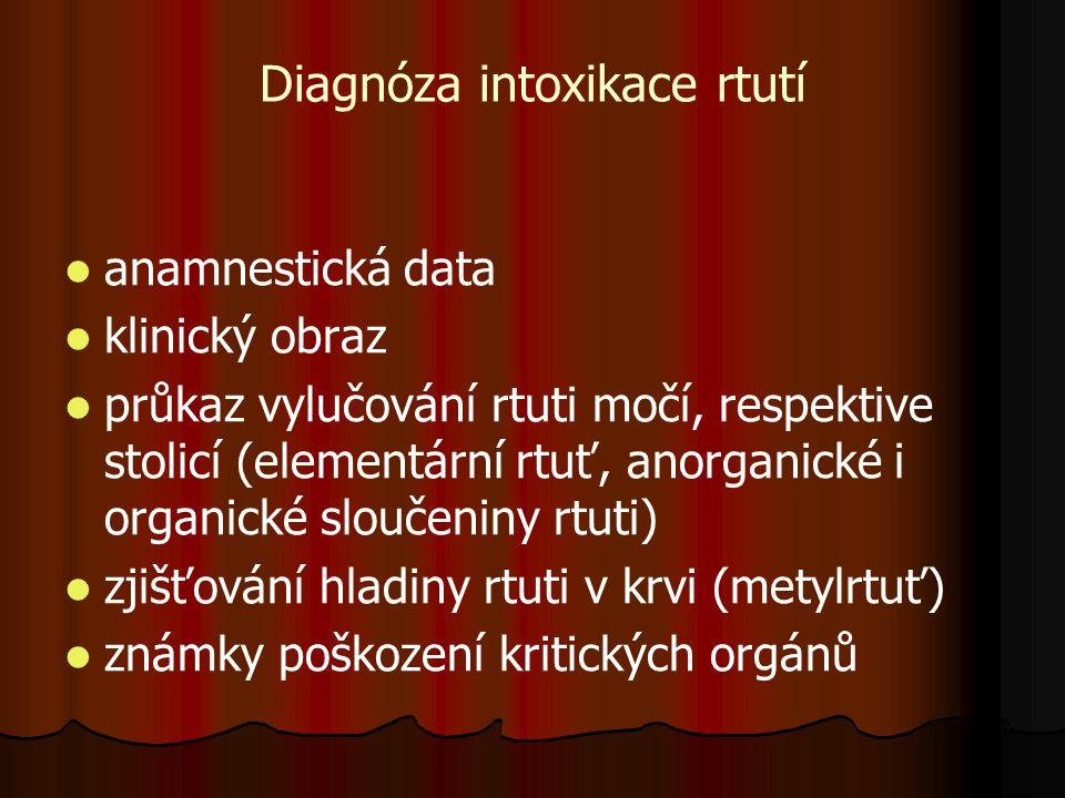 Diagnóza intoxikace rtutí
