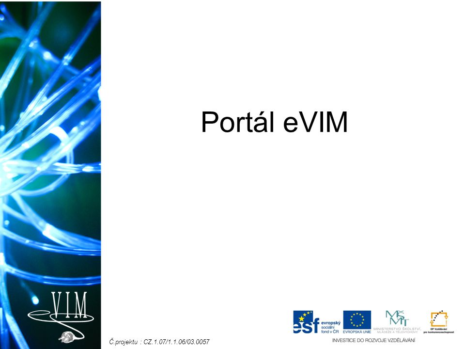 Portál eVIM