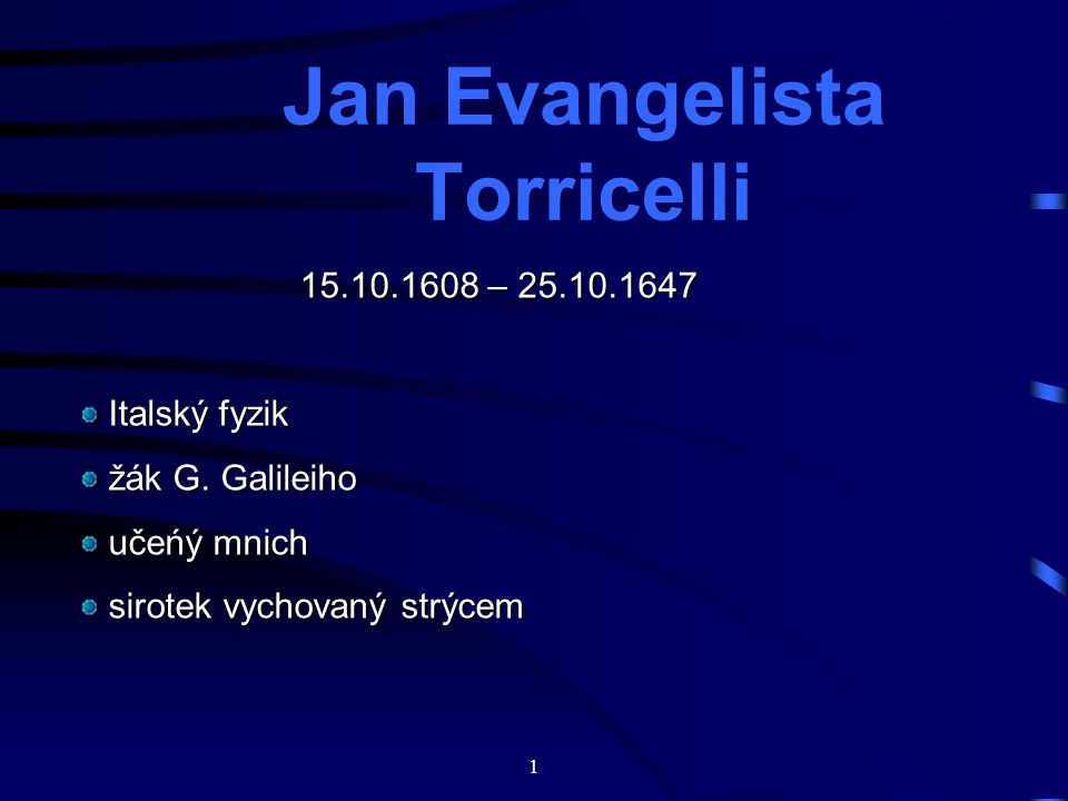 Jan Evangelista Torricelli