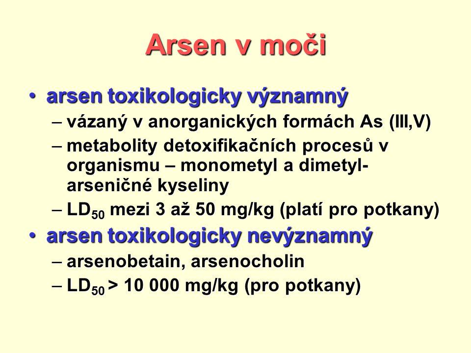 Arsen v moči arsen toxikologicky významný
