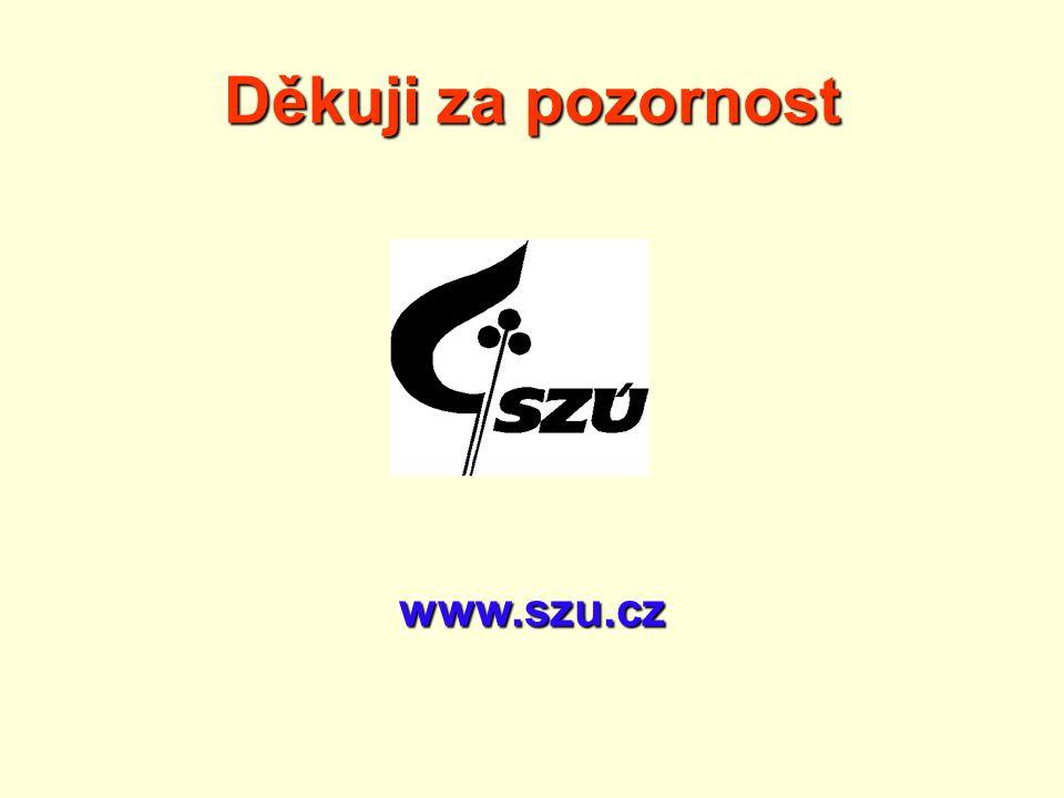 Děkuji za pozornost www.szu.cz