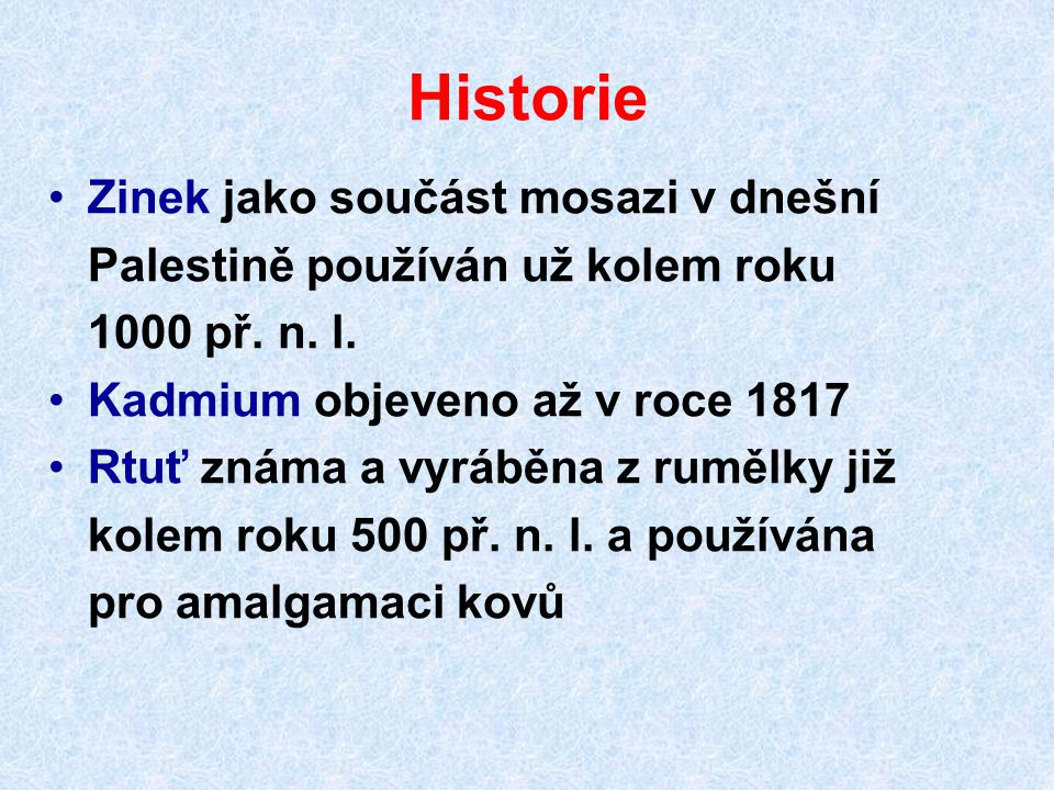 Historie Zinek jako součást mosazi v dnešní