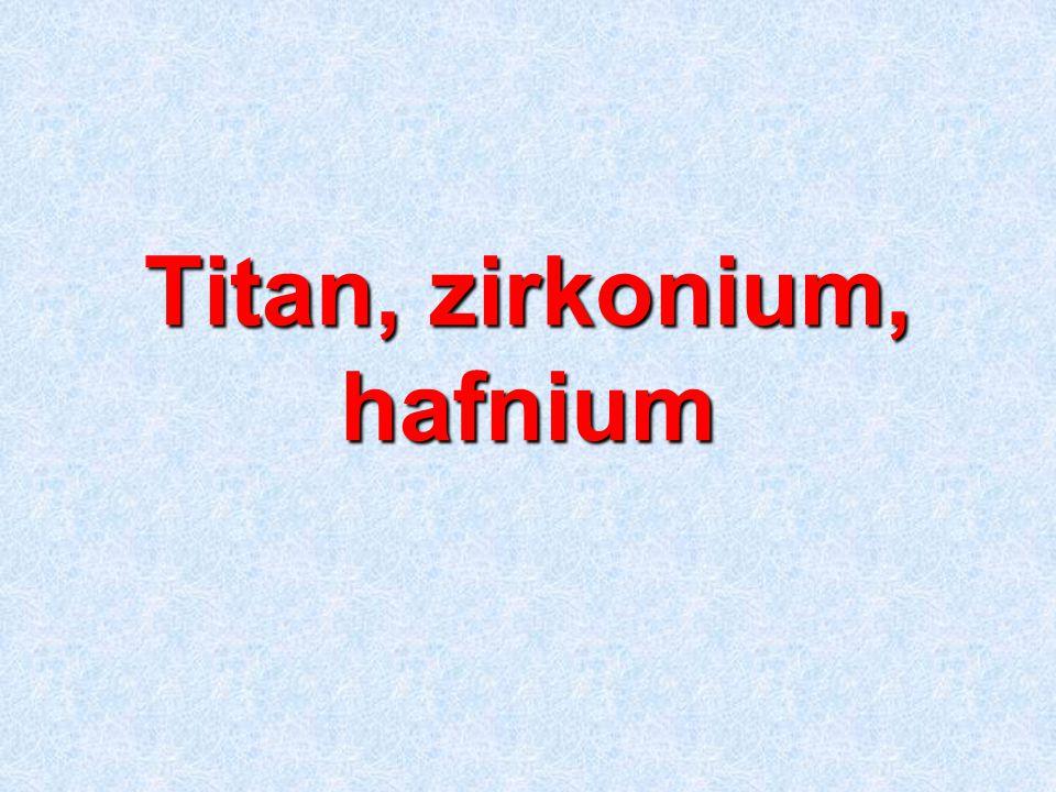 Titan, zirkonium, hafnium