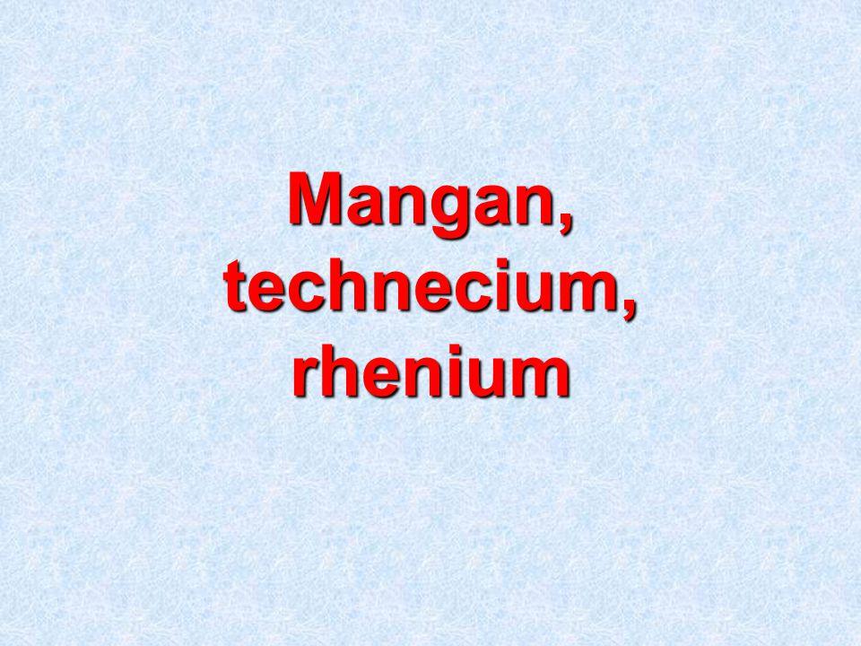 Mangan, technecium, rhenium