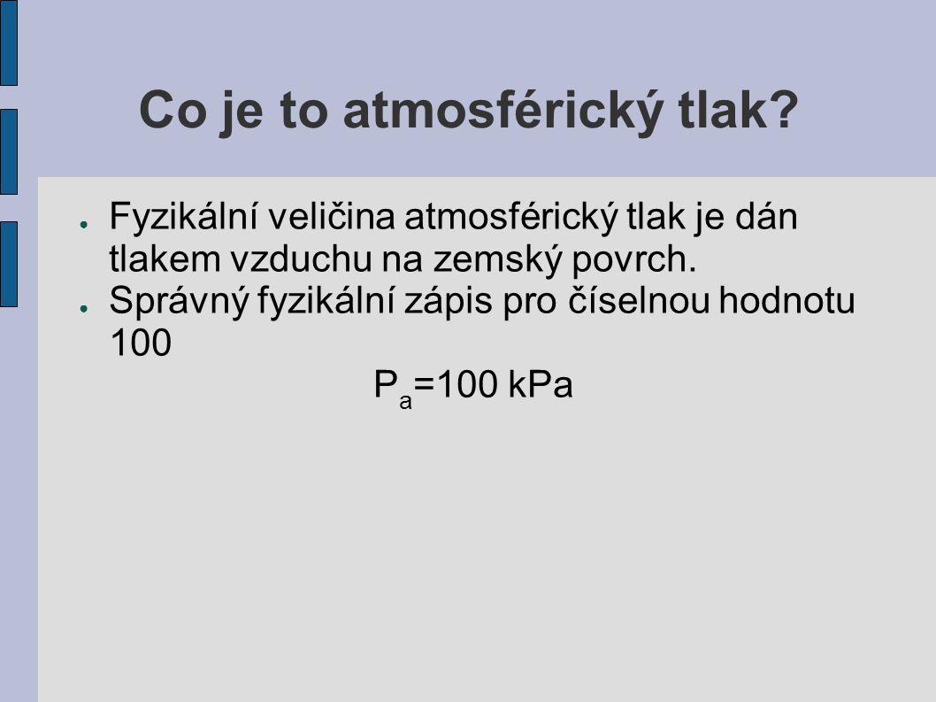 Co je to atmosférický tlak