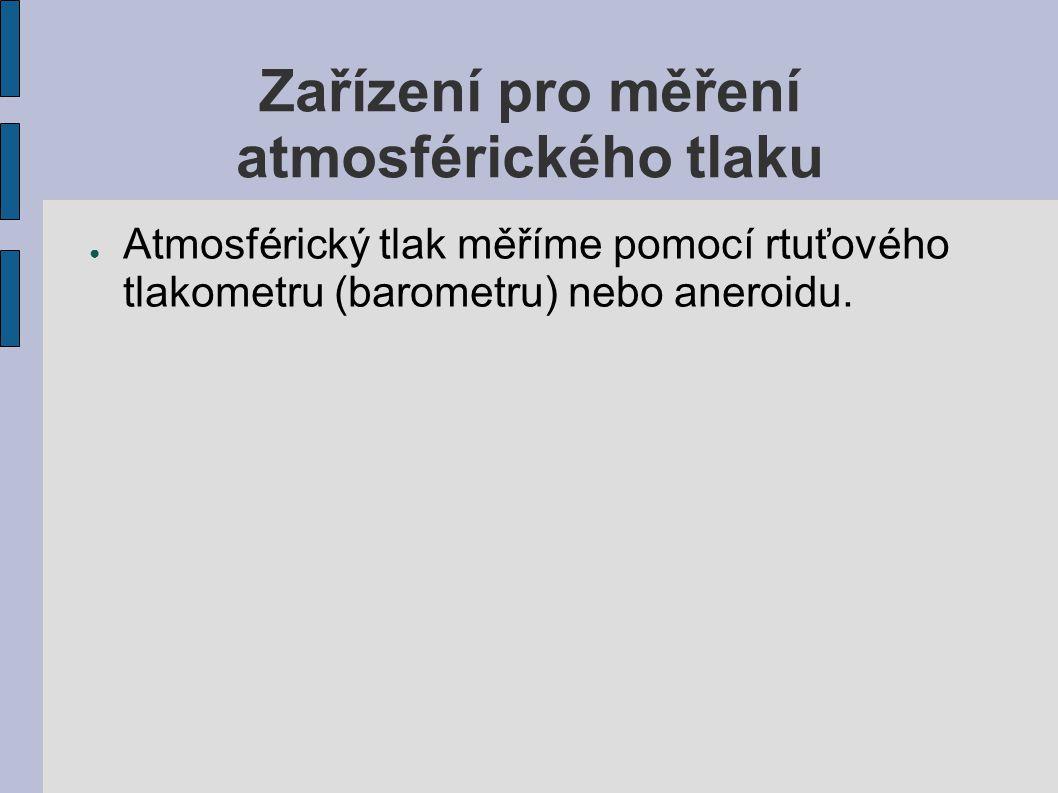 Zařízení pro měření atmosférického tlaku