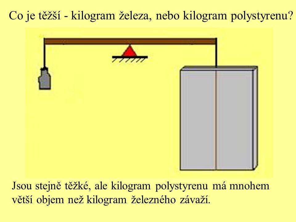 Co je těžší - kilogram železa, nebo kilogram polystyrenu