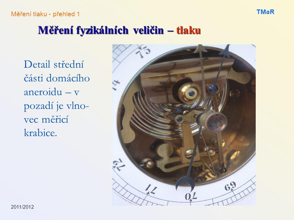 Měření fyzikálních veličin – tlaku