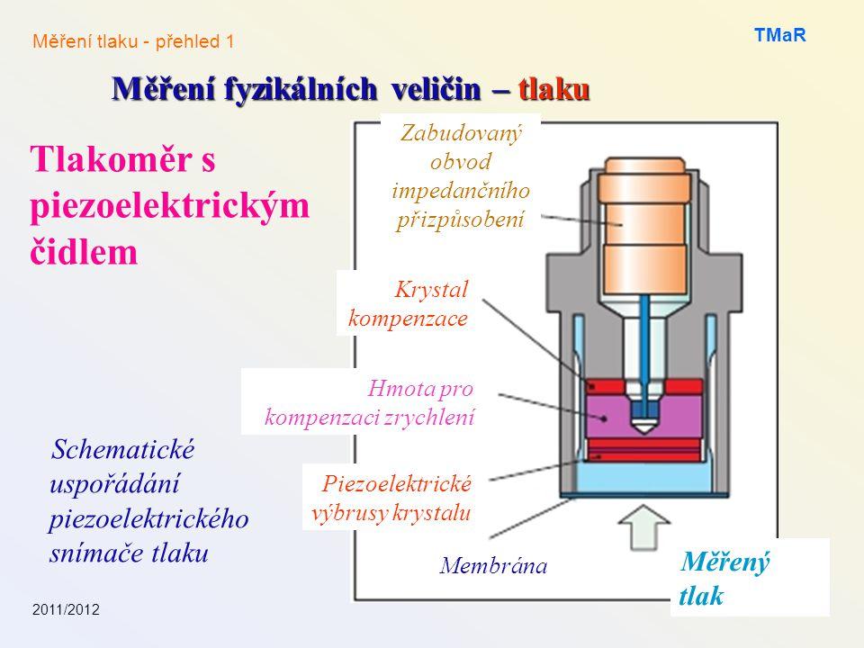 Tlakoměr s piezoelektrickým čidlem