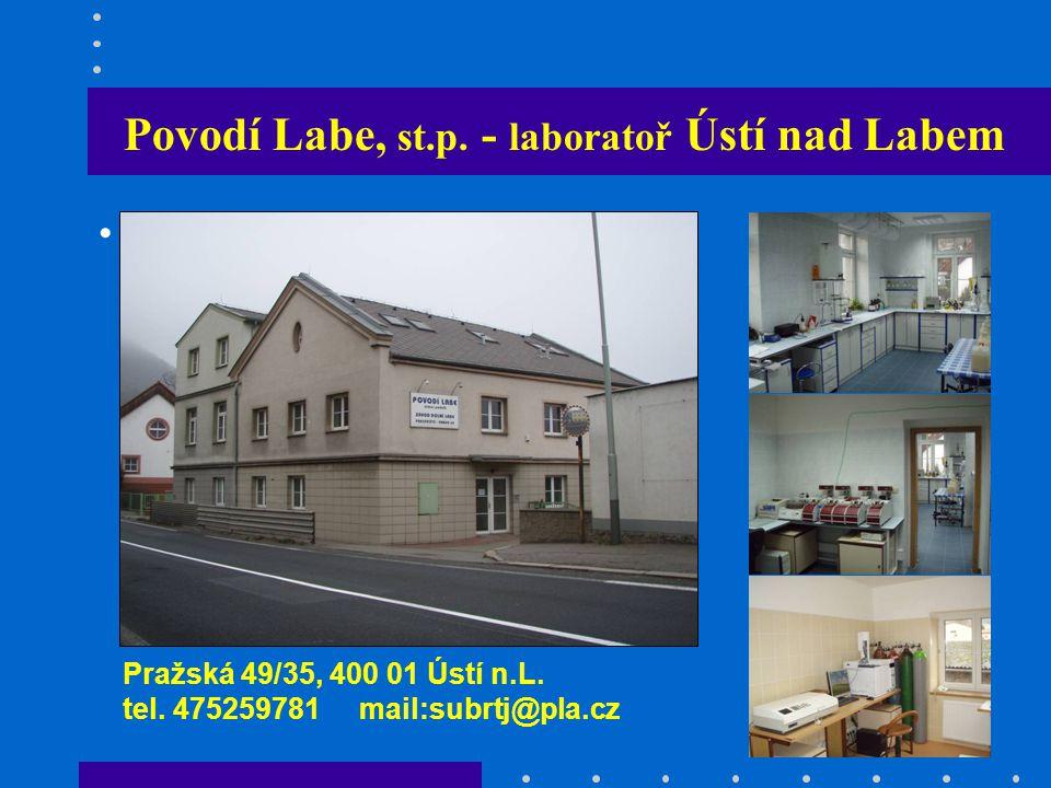 Povodí Labe, st.p. - laboratoř Ústí nad Labem